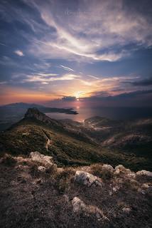 The view over Volterraio and Portoferraio