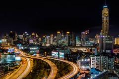 Before my eyes (21mapple) Tags: ratchaprarop tower mansion hotel bkk bangkok thailand thai sky skyline skyscraper skyscrappers road motorway freeway city cityscape long longexposure exposure night nightscape