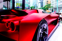 Nissan Concept 2020 Vision Gran Turismo : 日産コンセプト2020ビジョングランツーリスモ (Dakiny) Tags: 2017 summer june japan rain tokyo chuoward ginza city street indoor nissan nissancrossing showroom gallery vehicle automobile car red nikon d7000 sigma 1770mm f284 dc macro os hsm sigma1770mmf284dcmacrooshsm nikonclubit