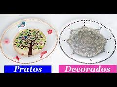 COMO FAZER Pratos Decorados com Decoupage ARTESANATO (portalminas) Tags: como fazer pratos decorados com decoupage artesanato