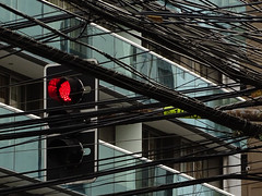 shenolongerneedsyou (renedepaula) Tags: urban city sampa saopaulo brasil brazil traffic light wire façade red