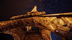 Riveting (gimmeocean) Tags: eiffeltower paris france night handheld