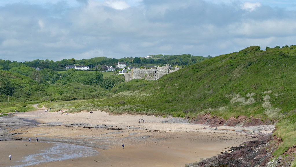 Manorbier Bay And Castle