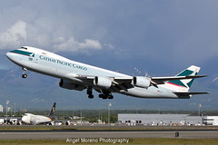 Cathay Pacific Cargo / Boeing 747-867(F) / B-LJC, departure from Ted Stevens Anchorage International Airport, Alaska. (Angel Moreno Photography) Tags: cathaypacificcargo boeing747867f bljc tedstevensanchorageinternationalairport alaska planespotter aircraft airplane cargoplane
