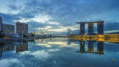 before dawn (jaywu661) Tags: sky skyline sony singapore sonya7r sony1635mm sunrise singaporeriver nisifilter landscape cityscape longexposure reflections marinabay marinabaysands urban water architecture buildings