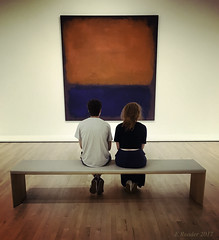 Contemplating Contemporary Art (Greatest Paka Photography) Tags: sfmoma sanfrancisco painting museum contemplation couple art solitude gallery quietly minimal sitting light shadow color contemporaryart