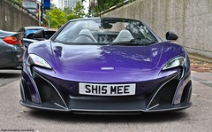 McLaren 675LT Spider (Jack de Gier) Tags: london uk mayfair knightsbridge posh carwash supercar hypercar worldcar limited exotic mclaren 675lt longtail shmee shmee150 parklane purple horsepower timburton 87tb sh15mee shmeemobile