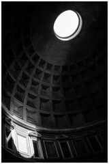 The Secret Window (Thomas Listl) Tags: thomaslistl blackandwhite noiretblanc biancoenegro pantheon light shadow graphical architecture antique rom rome roma italy dark mysterious secret hole angle imageborder