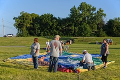 Balloon Inflation Process:  Laying it all Out (brev99) Tags: tulsa balloonfestival balloonists crew d610 perfecteffects17 ononesoftware on1photoraw2017 people field grass