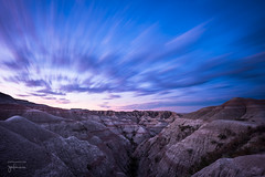 Badlands Dawn - II (josefrancisco.salgado) Tags: 1635mmf4gvr badlandsnationalpark d810a nikkor nikon southdakota cloud clouds dawn longexposure morning motionblur nube nubes twilight crepúsculo exposiciónlarga mañana