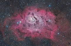 Messier 8 - With H-ALPHA (maicongerminiani) Tags: optolong messier messier8 lagoon halpha hargb halrgb deepsky dso pixinsight photoshop apod