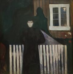 Edvard Munch, Moonlight, 1893, Oil on canvas, SFMOMA (Sharon Mollerus) Tags: edvardmunchbetweentheclockandthebedexhibit sanfrancisco california unitedstates us cfpti17