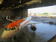 IMG_0090 (Roger Brown (General)) Tags: a320 neo new engine option is easyjets latest purchase their fleet 300th airbus purchased by easyjet has leap 1a leading edge aviation propulsion engines fitted collected from delivery centre toulouse flown via orly back luton 14th july 2017 orange roger brown canon sx610 hs