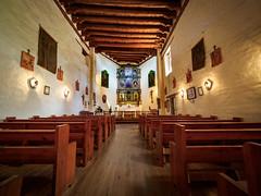 San Miguel Mission interior (Ed Rosack) Tags: newmexico building travel buildingandarchitecture cross ©edrosack vacation santafe church usa