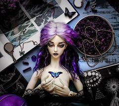 BJD Flatlay Agatha (Muffin_elfa) Tags: bjd doll soom breccia flatlay witch butterfly tattoo