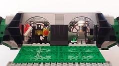 Jabba the Hutt's TIE Fighter - Rear open (Evilkirk) Tags: starwars lego jabba hutt tie fighter moc