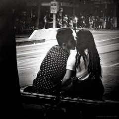 Melbourne 2016/7-11 (@mich.robinson) Tags: lightanddark people couple city candid documentary melbourne love bw australia everyday iphone7plus life photography dailylife cityliving blackandwhite streetphotography random blackandwhitephotography sitting flickrelite ipadairedit kiss 4tografie observation outdoors snapseed ipadphotoapps silhouette kissing michellerobinson streetlife realpeople photographer monochrome fujifilm street