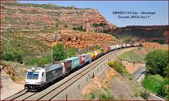 Parajes desérticos (JoseM354) Tags: teco irún abroñigal tren somaén guadalajara arcos de jalón traxx 253 contenedores