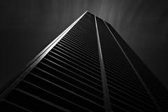 Inclination (bprice0715) Tags: canon canoneos5dmarkiii canon5dmarkiii architecture architecturephotography blackandwhite blackwhite bw monochrome moody mono lines shapes nyc newyorkcity contrast highcontrast drama dark steel urban city cityscape