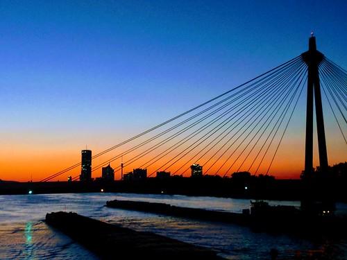 Donaucity Sunset Vienna