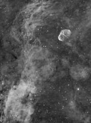 Crescent Nebula in Ha (NGC6888) (Andrew Klinger) Tags: