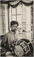 """Music is life.. that's why our hearts have beats."" (Ramalakshmi Rajan) Tags: blackandwhite blackwhite nikond5000 nikon nikkor35mm people man bangalore indians india music drummers"