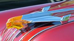 1954 Pontiac Starchief conv (crusaderstgeorge) Tags: crusaderstgeorge cars classiccars 1954pontiacstarchiefconv 1954 pontiac starchief conv americancars americanclassiccars arenawheels americancarsinsweden redcars red chrome sweden sverige sandviken