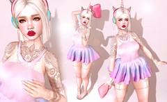 Unicorn smoothie (ѕαтιɴe ѕαвrα & co.) Tags: catwa bellaelephante elephanteposes ama peaches nanika reign tableauvivant storybook thechapterfour secondlife moremore