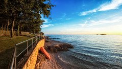 Ready for action (blatnik_michael) Tags: sea meer croatia water sun sunset tree fuji xf1024 xe2 landscape wideangle outdoor sky boat stone