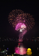 Harbourfront, Toronto, Canada (Photo Bug TA) Tags: toronto ontario canada night city canadaday fireworks harbourfront water duck yellowduck