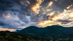 Cloudy Sunset (Nicola Pezzoli) Tags: italy italia bergamo leffe lombardia val gandino cerida mood nature ceride sunset clouds seriana mountain montagne tramonto ganda poieto monte bue