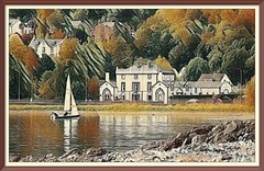 The Sailors Return (Rollingstone1) Tags: boat yacht sail marine maritime art artwork houses buildings home sailors water sea sailing rhu helensburgh scotland trees pocks shore shoreline