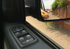 Waiting (timo_w2s) Tags: wingmirror brickwall window switches controls car fitbit