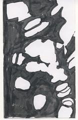 2016.04.05 Tentative (Julia L. Kay) Tags: ink paper brush pen brushpen bw black white monochrome shadow shadows silhouette juliakay julialkay julia kay artist artista artiste künstler art kunst peinture dessin arte woman female sanfrancisco san francisco daily everyday 365 botanical botany plant foliage splitleaf philodendron splitleafphilodendron sundances