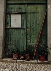 Rustic entrance (Mauro Hilário) Tags: portugal rural countryside doors green beautiful art artistic abandoned