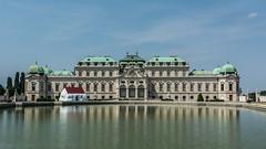 Vienna   |   Schloß Belvedere (JB_1984) Tags: schlosbelvedere thebelvedere palace castle statelyhome reflectingpool reflection water symmetry baroque landstrasse vienna wien austria österreich