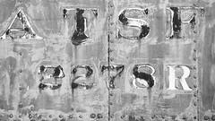 Memories of the Santa Fe - Pueblo Railway Museum (Christopher J May) Tags: film bw blackandwhite ilford ilfordxp2super filmisnotdead ishootfilm train railroad atsf santafe pueblo colorado co nikonf4s afnikkor80200mmf28d pueblorailwaymuseum