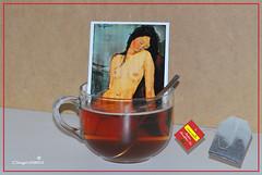 Colazione con tè (Dieghito61) Tags: amedeomodigliani fantasy smile work dieghito61 the tea thè thèconamedeomodigliani