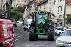 RUSH HOUR TRAFFIC! (mark_rutley) Tags: bradforduponavon devises holiday kennetandavoncanal lacock vacation wiltshire tractor rushhour traffic cars transport farming farmingtoday