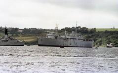 HMS Salisbury (F32) and Unknown RN ship, Devonport C:1979 (bertie's world) Tags: ship royal navy rn 1979 devonport hms salisbury f32
