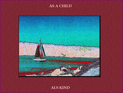 Segel Kind (Walter A. Aue) Tags: sailing sailboat shore ufer decoloreddiscolored verbopictorial screenshot child kind childlike childish kindlich