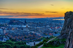 Twllight over Auld Reekie (MilesGrayPhotography (AnimalsBeforeHumans)) Tags: architecture auldreekie britain blending balmoralclocktower bridge city cityscape castle castlerock crags salisburycrags a7ii 2870 sonyfe2870mmf3556oss dusk edinburgh europe evening edinburghcastle bluehour fe glow historic historicscotland iconic ilce7m2 landscape lens nd outdoors old oldtown oss photography photo rocks ruins scotland radicalroad skyline sky scenic sunset sunshine summer town twilight trees uk unitedkingdom volcano volcanic