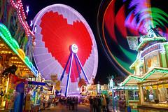 Fairground Love (mattrkeyworth) Tags: herz iheart rx1rm2 night fairground fair kiliani volksfest riesenrad bigwheel ferriswheel rx1rii würzburg lightstream lighttrails