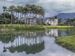 Reflections in water (cyangLtravel) Tags: reflection reflections water river villas houses cloudy cloud trees landscape
