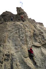 Lucho subiendo (martin9753) Tags: argentina bariloche patagonia paredes piedras blancas rock climbing escalada en roca climb mountain mountains