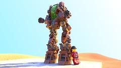 Kingsfield Trotter (Luke Skytrekker) Tags: lego walker steampunk render mecabricks blender gatling