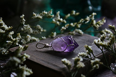 Amethyst Point Pendant (Sedna 90377) Tags: gemstones crystals minerals wire wrapped wirework wirewrapped wirewrap pendant amethyst