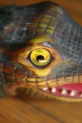 Alley The Alligator Eye ( Marx 1960's ) (Donald Deveau) Tags: eye remotecontrolled batteryoperated toys toyphotography vintagetoy alley alligator
