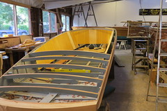 Slipper Sterns being built in the traditional way but fitted with the latest tech (stephen allen2016) Tags: peterfreebodyshurley slippersterns thames hurley boats