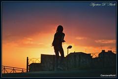 Tramonto con figura femminile - Giugno-2017 (agostinodascoli) Tags: tramonto sunset cianciana sicilia nikon nikkor agostinodascoli texture paesaggi landscape persone donna